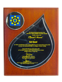 Special Award to Net Quad, Don Emilio Abello Energy Efficiency Awards December 2012